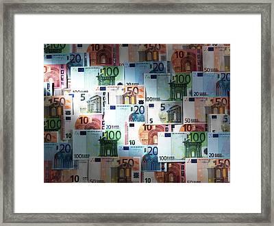 Euro Banknotes Framed Print by Tek Image