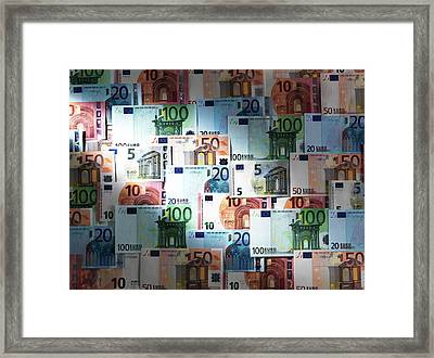 Euro Banknotes Framed Print