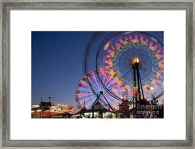 Evergreen State Fair With Ferris Wheel Framed Print