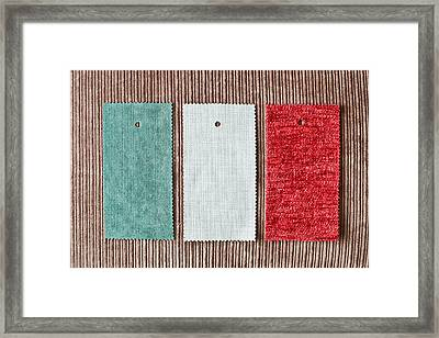 Fabric Swatch Framed Print
