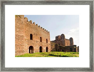 Fasil Ghebbi, A Fortress-like Royal Framed Print by Martin Zwick