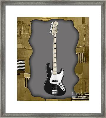 Fender Bass Guitar Collection Framed Print