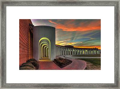 Ferguson Center For The Arts Framed Print by Jerry Gammon