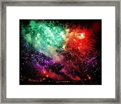 Fireworks Framed Print by Carol Toepke