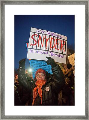 Flint Drinking Water Protest Framed Print