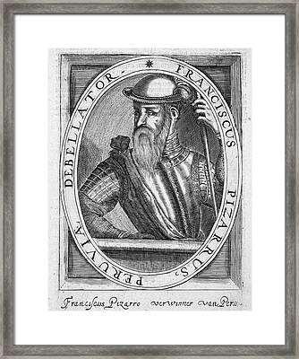 Francisco Pizarro (c1475-1541) Framed Print by Granger