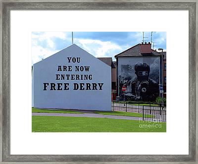 Free Derry Corner 3 Framed Print