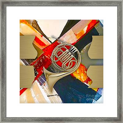 French Horn Collection Framed Print