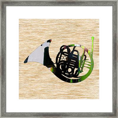 French Horn Framed Print