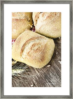 Fresh Bread Framed Print by Mythja  Photography