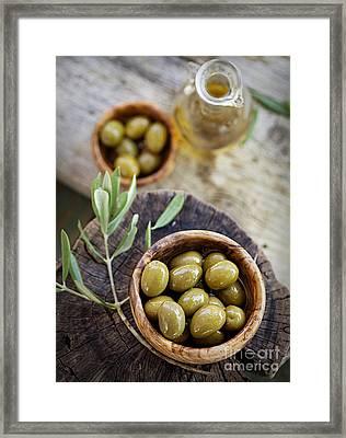Fresh Olives Framed Print