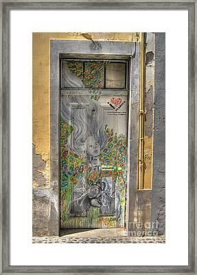 Funchal Door Art  11 Framed Print