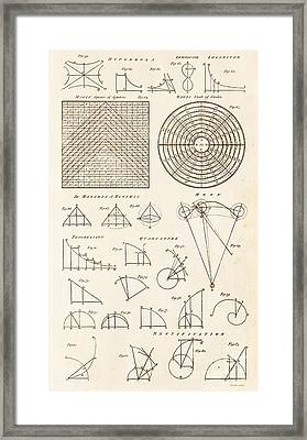 Geometrical Constructions And Principles Framed Print by David Parker