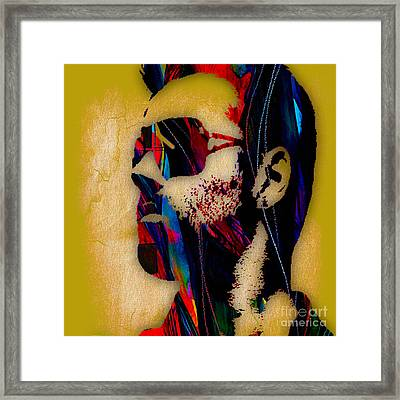 George Michael Collection Framed Print by Marvin Blaine