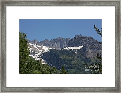 Glacier Park Scene Framed Print by June Hatleberg Photography