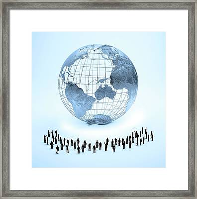 Global Community Framed Print
