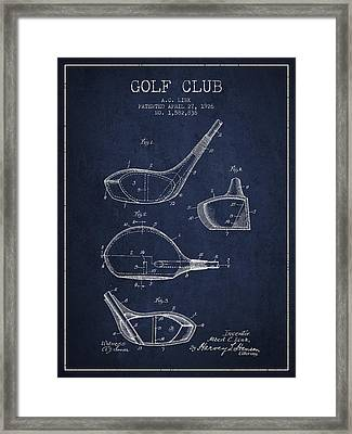 Golf Club Patent Drawing From 1926 Framed Print by Aged Pixel