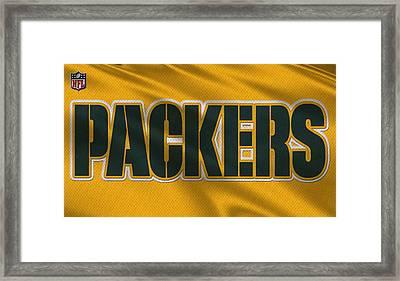 Green Bay Packers Uniform Framed Print
