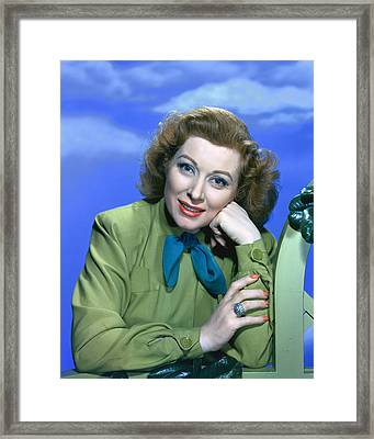 Greer Garson Framed Print by Silver Screen
