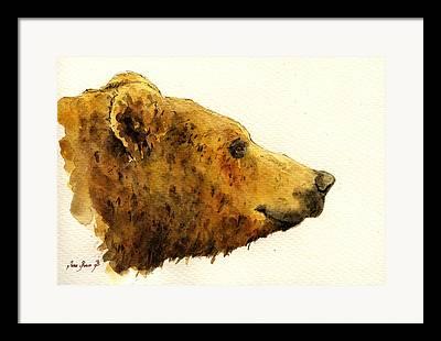Brown Bears Framed Prints
