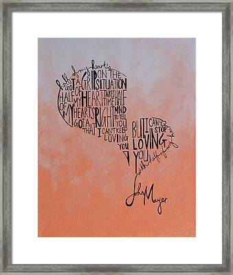 Half Of My Heart Framed Print by Leah Price
