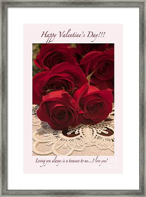 Happy Valentine's Day #3 Framed Print by Ivete Basso Photography