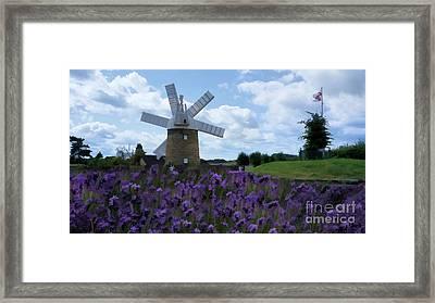 Heage Windmill Framed Print by Mickey At Rawshutterbug