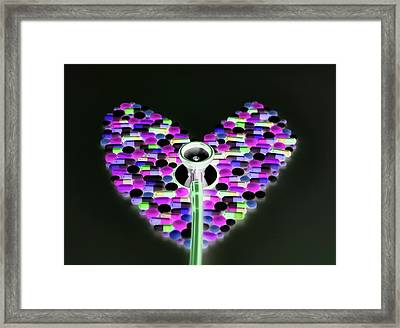 Healthcare Abstract Framed Print