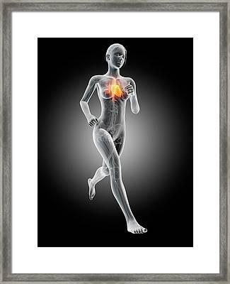 Heart Of A Runner Framed Print