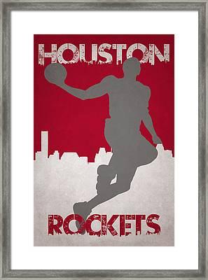 Houston Rockets Framed Print by Joe Hamilton