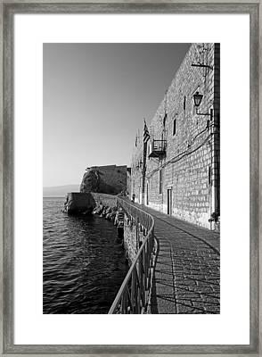 Hydra Island Framed Print