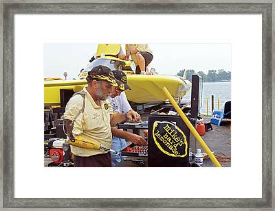 Hydroplane Racing Framed Print by Jim West