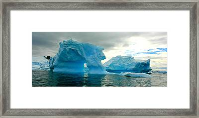 Framed Print featuring the photograph Icebergs by Amanda Stadther