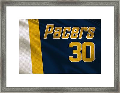 Indiana Pacers Uniform Framed Print