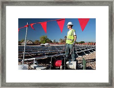 Installing Solar Panels Framed Print