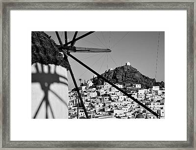Ios Town Framed Print by George Atsametakis