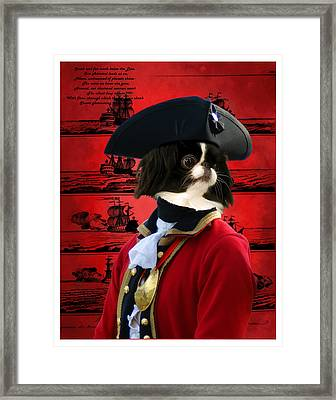 Japanese Chin Art Canvas Print Framed Print by Sandra Sij