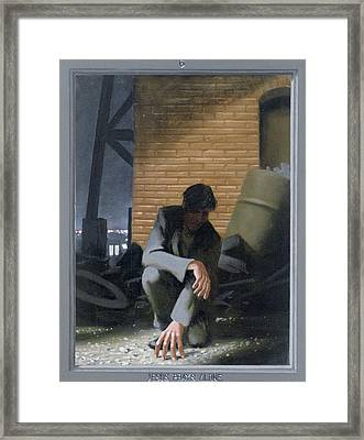 6. Jesus Prays Alone / From The Passion Of Christ - A Gay Vision Framed Print by Douglas Blanchard