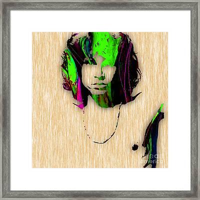 Jim Morrison Painting Framed Print by Marvin Blaine