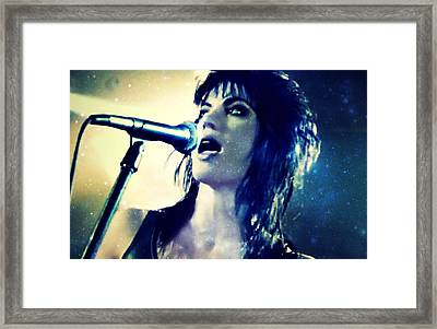Joan Jett Framed Print by Cyryn Fyrcyd