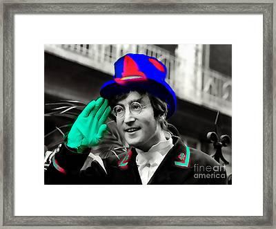 John Lennon Framed Print by Marvin Blaine