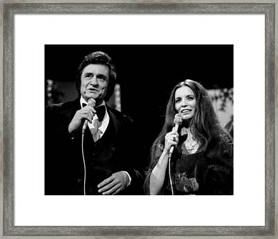 Johnny Cash Framed Print by Retro Images Archive