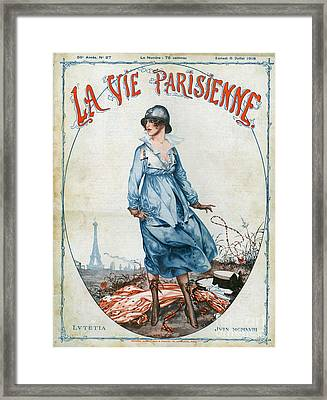 La Vie Parisienne 1918 1910s France Cc Framed Print by The Advertising Archives