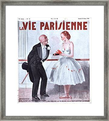 La Vie Parisienne 1935 1930s France Framed Print by The Advertising Archives