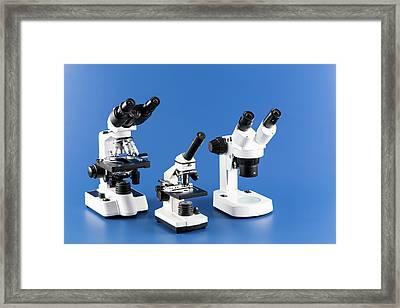 Laboratory Microscope Framed Print by Wladimir Bulgar