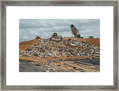 Landfill Waste Disposal Site Framed Print by Peter Menzel