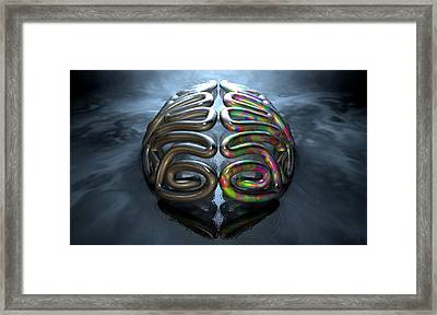 Left And Right Brain Concept Framed Print