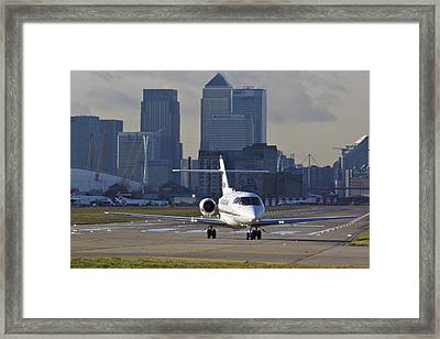 London City Airport Framed Print by David Pyatt