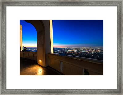 Los Angeles As Seen From The Griffith Observatory Framed Print