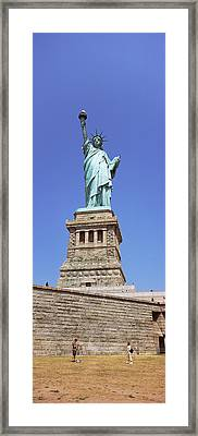 Low Angle View Of A Statue, Statue Of Framed Print